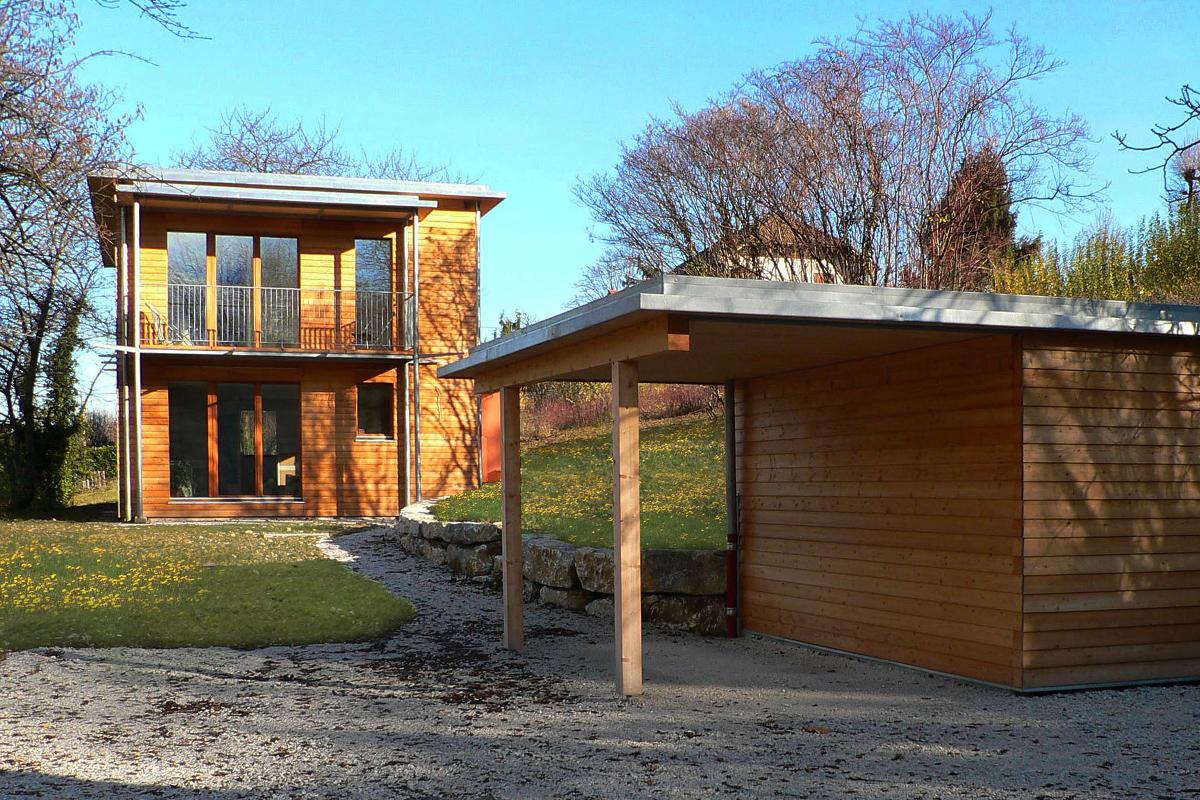 AIX-LES-BAINS - 2009 - Construction : Pollen construction bois - Première maison certifiée Passivhaus en Rhône-Alpes